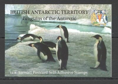 I437 British Antarctic Territory Penguins #434-45 Michel 36 Euro Booklet Mnh