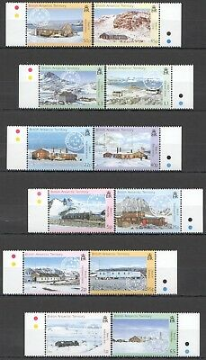 I435 British Antarctic Territory Research Bases #357-68 Michel 65 Euro Set Mnh