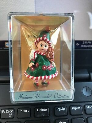 "Madame Alexander resin doll figurine ""Santas Little Helper"" #91010, Christmas"