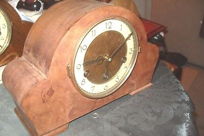Mantel Clock H A C  Whittington Westminster Escapement Balance Working