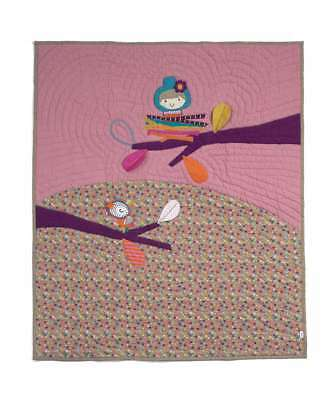 NEW Mamas and Papas TIMBUKTALES Girls Hand Quilted Unisex Cot / Cot bed Coverlet