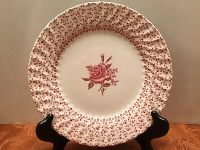 Johnson Brothers England Rose Bouquet 9 3/4 Dinner Plate Red White Collectable
