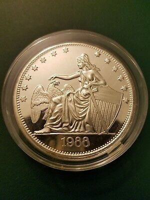 Rare 2 Oz 999 Fine Silver Seated Liberty And Eagle Art Round High Relief Nude