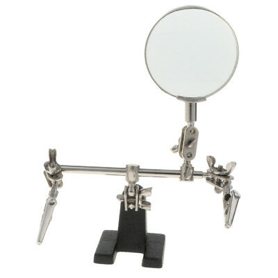 Auxiliary Alligator Clip Magnifier Magnifying Glasses for Soldering Jewelry