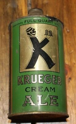 Krueger CREAM ALE Beer  / Empty 1 Quart Cone Top Beer Can