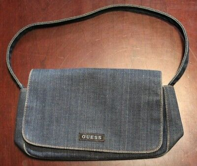 c1ce3baccb GUESS JEANS DENIM Tote Bag Purse USA Vintage Style Guess Spellout 18 ...
