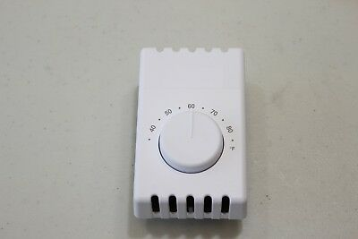 Broan NuTone 87W line voltage mechanical thermostat 22Amps at 120-240 Vac white