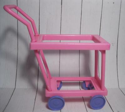 BARBIE DOLL POST OFFICE DOLLHOUSE FURNITURE DIORAMA MINIATURE MAIL Wheel Cart
