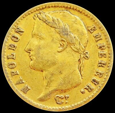 1812 A Gold France 6.45 Grams 20 Francs Napoleon Emperor Coin Paris Mint
