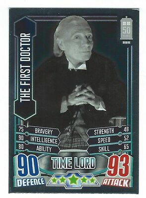 Topps Doctor Who Alien Attax 50th Anniversary Foil Card 9 The First Doctor