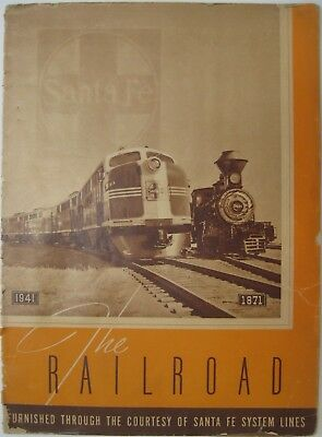 Vintage 1941 SANTA FE RAILROAD Illustrated Booklet For Use in Schools Photos Map