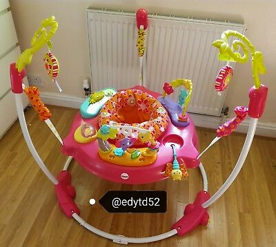 Fisher price jumperoo pink petals bouncer baby toy activity jumping
