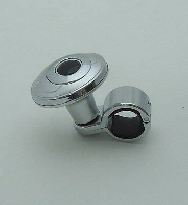 Chrome Steering Wheel  Auxliary Spinner Knob/Handle Boost Aid for Car/Truck a1