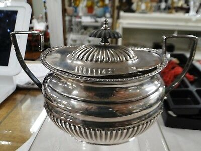 Antique Sterling Silver Sugar Container & Lid Lewis.rose Co.13.50 Oz