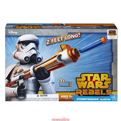 Hasbro Nerf Star Wars Rebels Stormtrooper ADS Blaster Soft Dart Toy Gun Xmas TOY