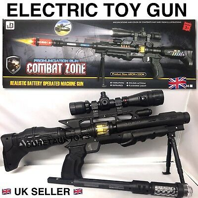 Kids Toy Sniper Camouflage Toy Gun Lights Sound Vibration With 5 Projection Gun