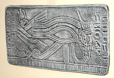 Ancient Egyptian Aepep Horus Ra Eye Heiro Wall Relief Sculpture