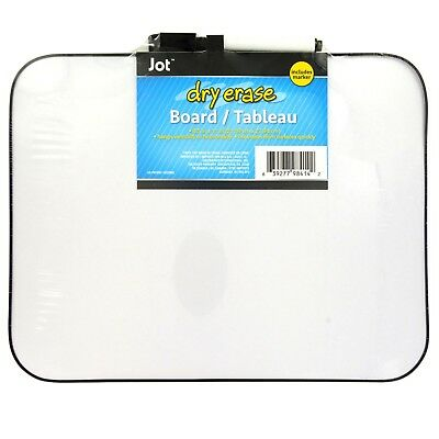 """Jot 8.5 x 11"""" Dry Erase Whiteboard with Marker magnetic stripe"""