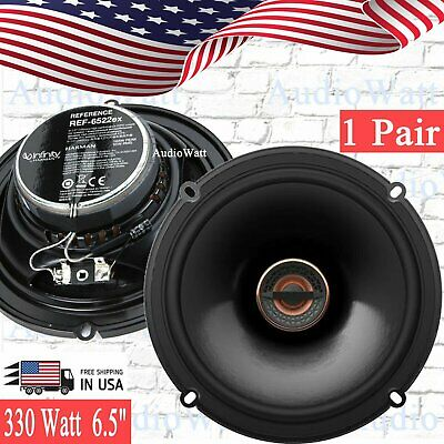"Infinity Ref-6522Ex 6.5"" 330W 2-Way Reference Shallow Mount Car Speakers 1 Pair"