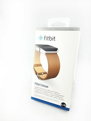Fitbit Blaze Replacement Leather Accessory Band & Frame -Large,Brown. Brand NEW!
