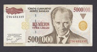 -Auction- Turkey 1997 5000000 Lirasi