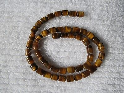 Natural Gemstone Tiger Eye Barrel Beads 40Cm Strand Approx 8X5Mm Jewelry Making