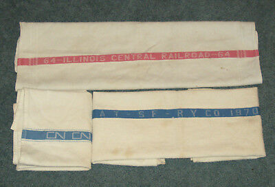 Vintage, Collection of Railroad Hand Towels, Lot of 3