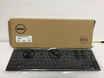 Dell KB216-BK-US Slim Multimedia USB Wired Keyboard New Black Pad mouse set