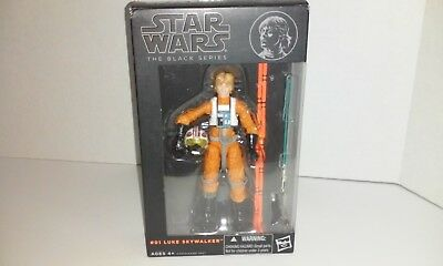 "Star Wars The Black Series LUKE SKYWALKER X-WING PILOT #01 6"" Aciton Figure 2013"