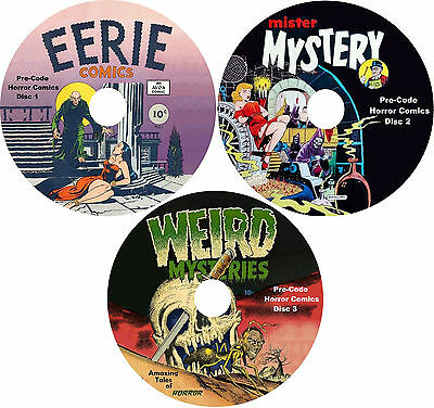 Pre-Code Horror Comic Books on 3 DVDs 567 Horror Comics in All