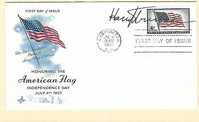 Harry Truman autograph on a 1957 cacheted FDC