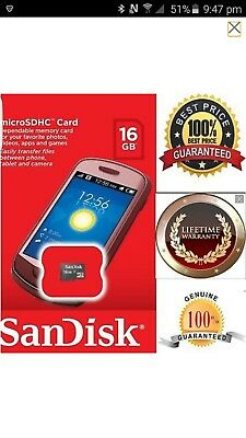 Sandisk Micro SD 16GB SDHC Sandisk Memory Card Microsd TF Mobile Phone Class 4
