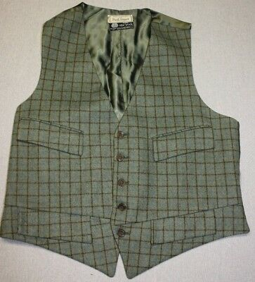 Mens Tattersall Vest/waistcoat By Paul Stuart Made In England Size M