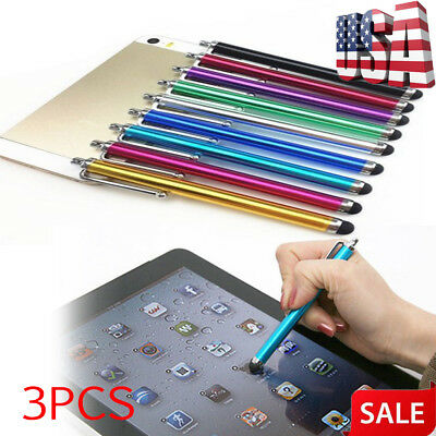 3pcs Metal Stylus Color Touch Screen Pens For iPhone iPad2/3/4 Tablet PC Phone