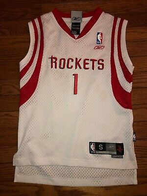 357127c27 Tracy McGrady Houston Rockets  1 Sewn NBA Basketball Jersey Youth Size Small