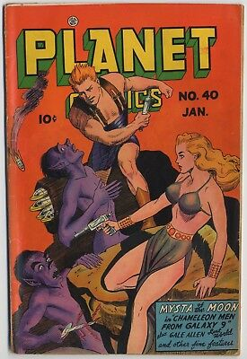 Fiction House PLANET COMICS #40, Doolin Cover, L. Renee, Anderson Art, VG, 1946