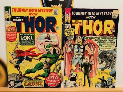 Journey Into Mystery the Mighty Thor #108 & 113 (4.0) VG Comic Lot Silver Age