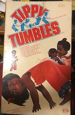 Tippy Tumbles African American Doll Very Rare Toy Made by Ideal 1977 NIB