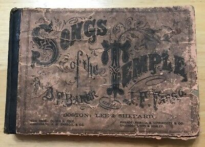 Bible Christian Song Book, 1868 - Songs of the Temple: GOOD COND. & RARE Book
