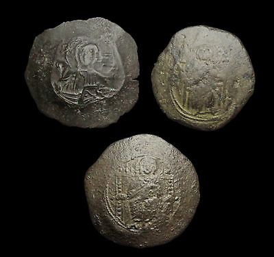 BYZANTINE. Lot of 3 assorted trachy cup coins