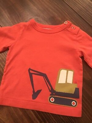 Boys BABY BODEN Shirt T-Shirt Sz 3-6 mo ~ DIGGER ~ SO CUTE!