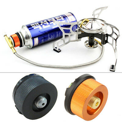Camping Burner Cartridge Gas Fuel Canister Stove Cans Tank Adapter Converter