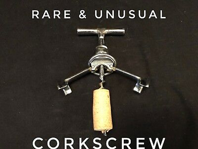 Vintage Chrome Corkscrew Made In Germany Separating Frame Rare & Unusual