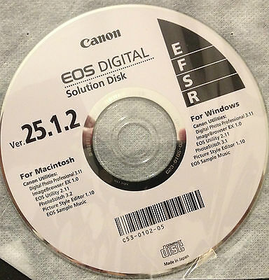 Canon EOS Digital Solution Disk 25.1.2 CD For Windows and for Macintosh