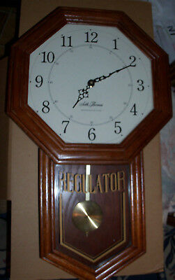 Seth Thomas Pendulum Regulator Wall Clock With Westminster Chimes