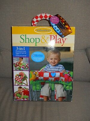 Infantino Baby 3-in-1 Picnic Print Grocery Shopping Cart Cover and Playmat