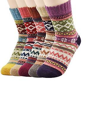 Cold Womens Fun Crew Cozy Comfy Warm Winter Boot Socks For Women Casual