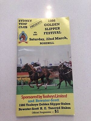 old race book 1986 golden slipper