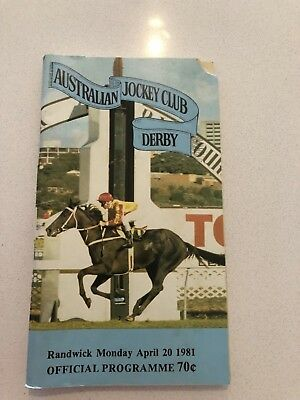 old race book 1981 ajc derby