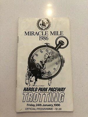 old trotting book 1986 miracle mile